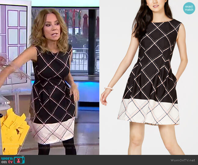 Printed Fit & Flare Dress by Vince Camuto worn by Kathie Lee Gifford (Kathie Lee Gifford) on Today