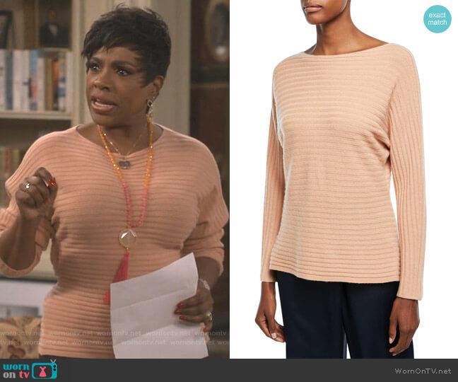 Self-Tie Back Dolman Sweater by Vince worn by Rose (Sheryl Lee Ralph) on Fam