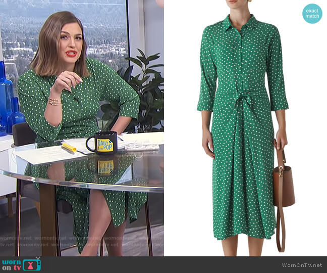Selma Dress by Whistles worn by Carissa Loethen Culiner  on E! News