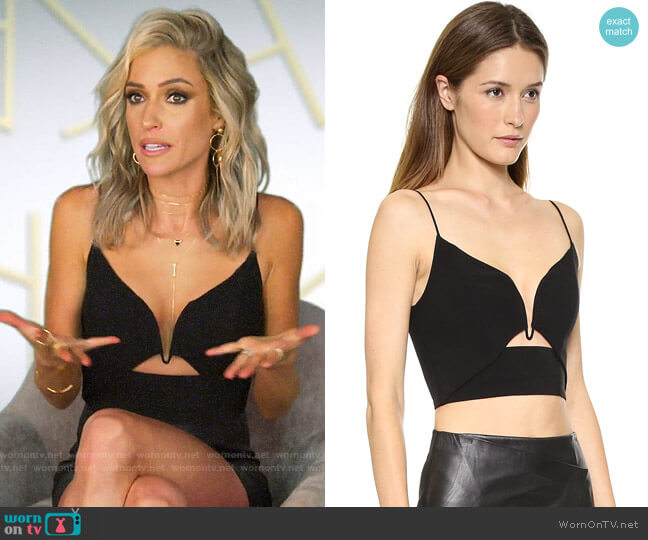 Zimmermann Crepe Plunge Bustier Top worn by Kristin Cavallari  on Very Cavallari