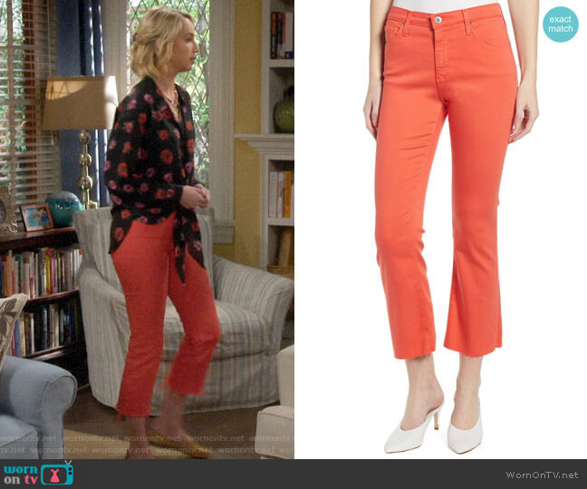 AG Jodi High Waist Crop Jeans in Faded Azalea worn by Mandy Baxter (Molly McCook) on Last Man Standing