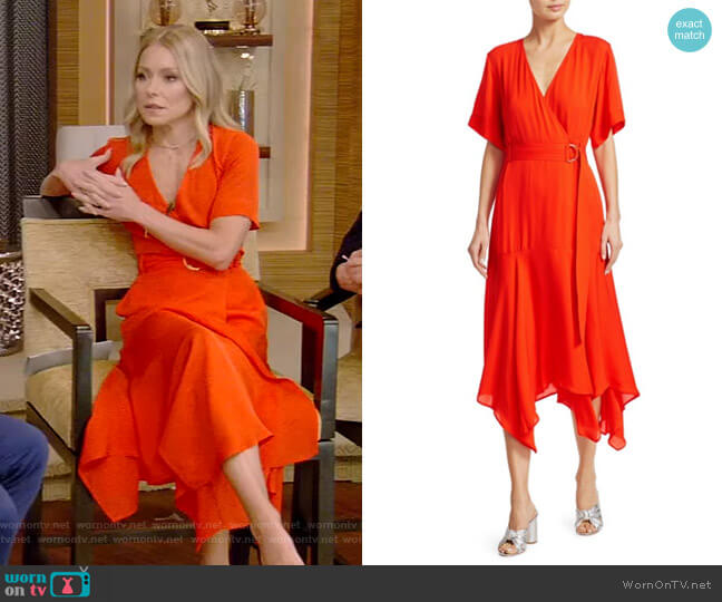 Claire Dress by A.L.C. worn by Kelly Ripa  on Live with Kelly & Ryan