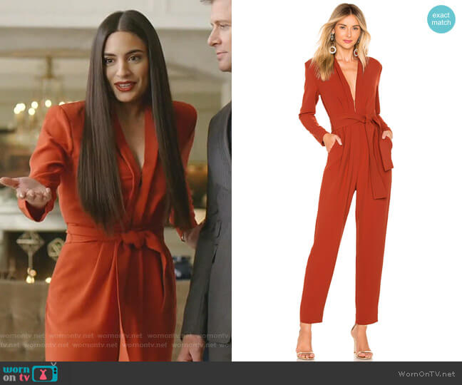 Kieran Jumpsuit by A.L.C. worn by Cristal Jennings (Daniella Alonso) on Dynasty