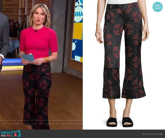 Evans Pants by A.L.C. worn by Amy Robach  on Good Morning America