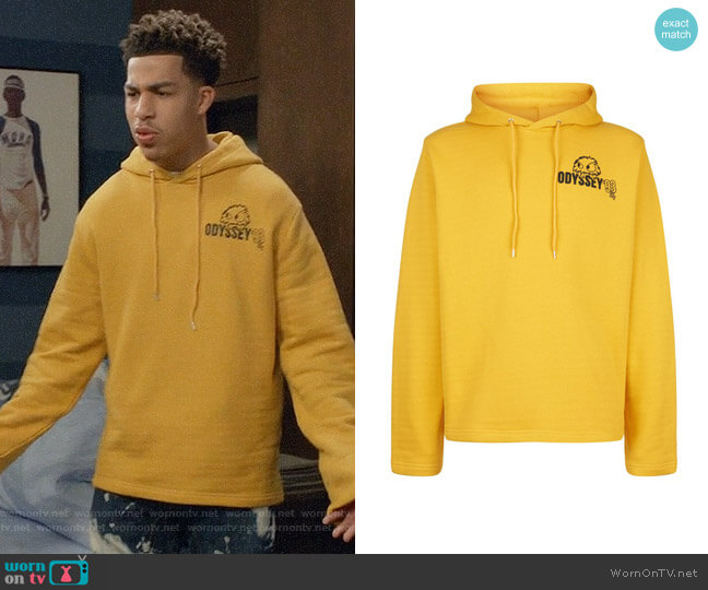 Alexander McQueen Monster Hoodie worn by Andre Johnson Jr (Marcus Scribner) on Blackish
