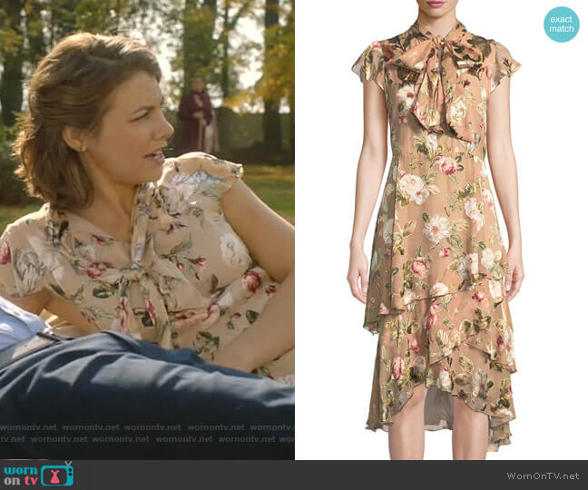 Lavenia Dress by Alice + Olivia worn by Frankie Trowbridge (Lauren Cohan) on Whiskey Cavalier
