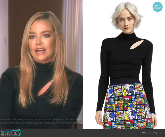 Sophie Sweater by Alice + Olivia worn by Denise Richards  on The Real Housewives of Beverly Hills