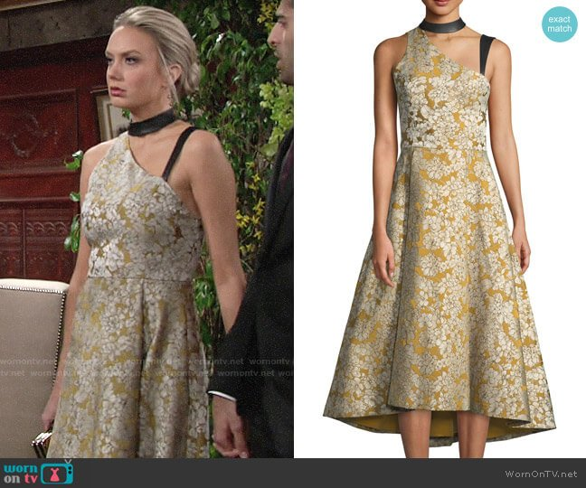 Alice + Olivia Chrissy Dress worn by Abby Newman (Melissa Ordway) on The Young & the Restless