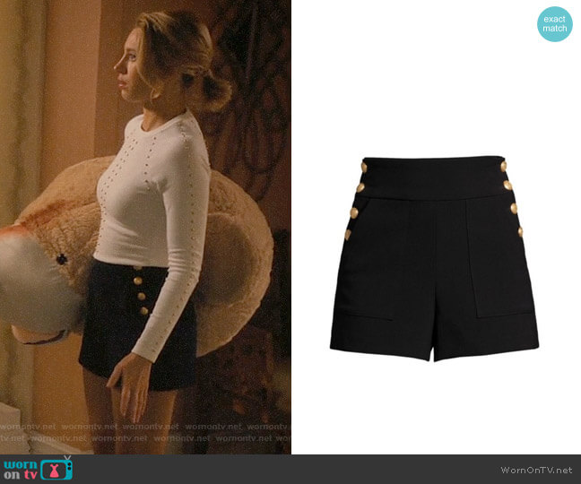 Alice + Olivia Donald Shorts worn by Petra Solano (Yael Grobglas) on Jane the Virgin
