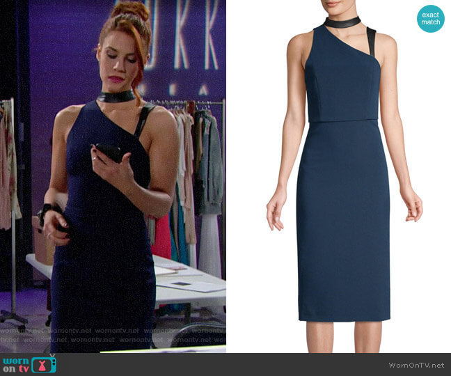 Alice + Olivia Jona Dress worn by Sally Spectra (Courtney Hope) on The Bold & the Beautiful