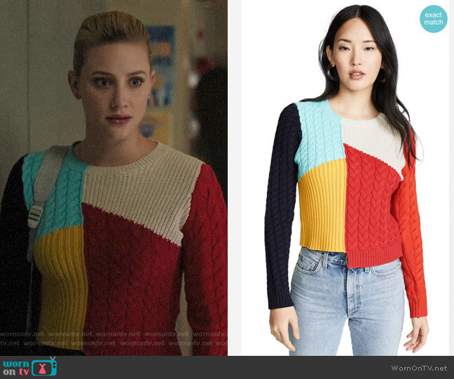Alice + Olivia Lebell Sweater worn by Betty Cooper (Lili Reinhart) on Riverdale