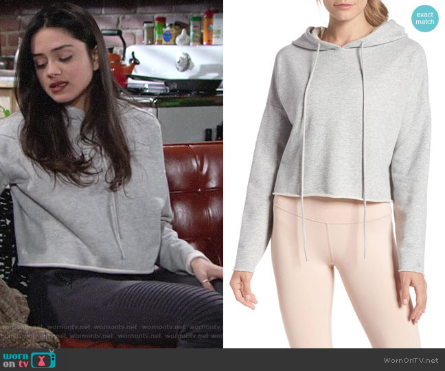 Alo Box Crop Hoodie worn by Lola Rosales (Sasha Calle) on The Young & the Restless