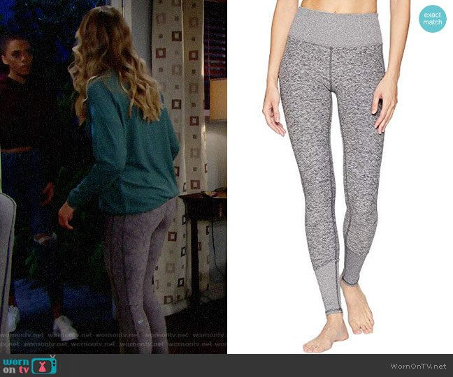 Alo Yoga High Waist Lounge Leggings in Dove Grey Heather worn by Florence (Katrina Bowden) on The Bold & the Beautiful