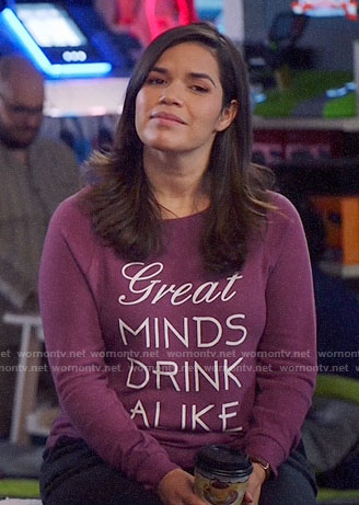 Amy's Great Minds Drink Alike PJ top on Superstore