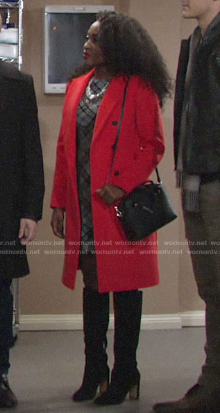 Ana's red coat on The Young and the Restless