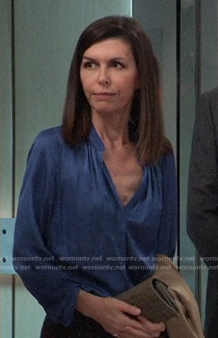 Anna's blue blouse on General Hospital