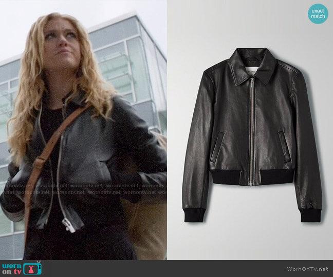 Aritzia Babaton Lou Leather Jacket worn by Mia Smoak (Katherine McNamara) on Arrow