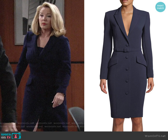 Badgley Mischka Bodycon Jacket Dress worn by Nikki Reed Newman (Melody Thomas-Scott) on The Young & the Restless