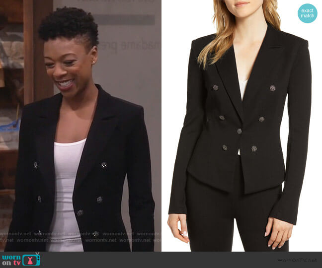 Jonesin Ponte Jacket by Bailey 44 worn by Samira Wiley