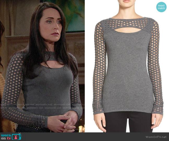 Bailey 44 Graphic Cutout Sweater worn by Quinn Fuller (Rena Sofer) on The Bold & the Beautiful