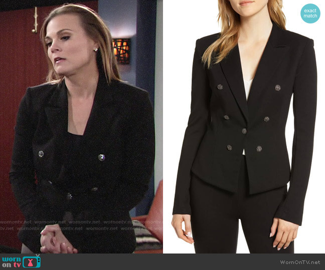Bailey 44 Jonesin Ponte Jacket worn by Phyllis Newman (Gina Tognoni) on The Young & the Restless