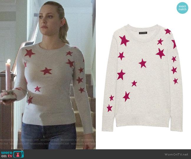 Banana Republic Star Sweater worn by Betty Cooper (Lili Reinhart) on Riverdale