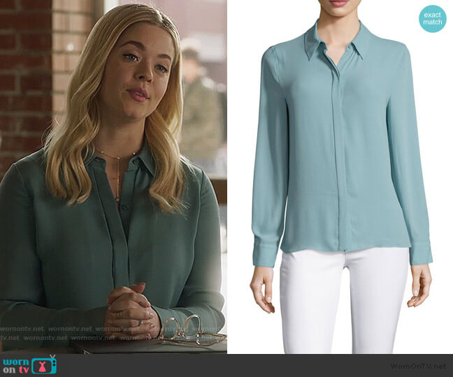 Dianna Blouse by BCBGMAXAZRIA worn by Alison DiLaurentis (Sasha Pieterse) on PLL The Perfectionists