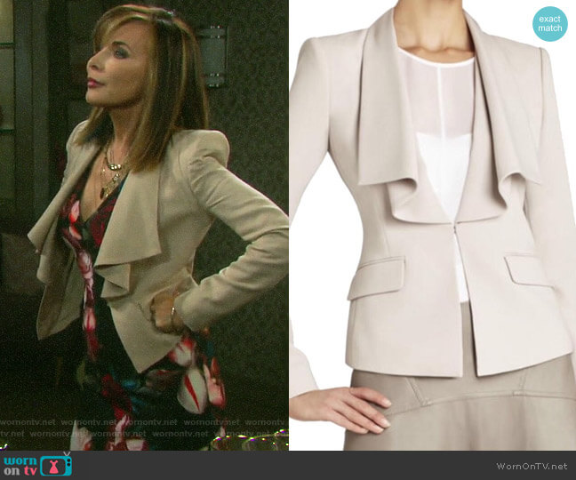 Bcbgmaxazria Kelvin Jacket worn by Kate Roberts (Lauren Koslow) on Days of our Lives