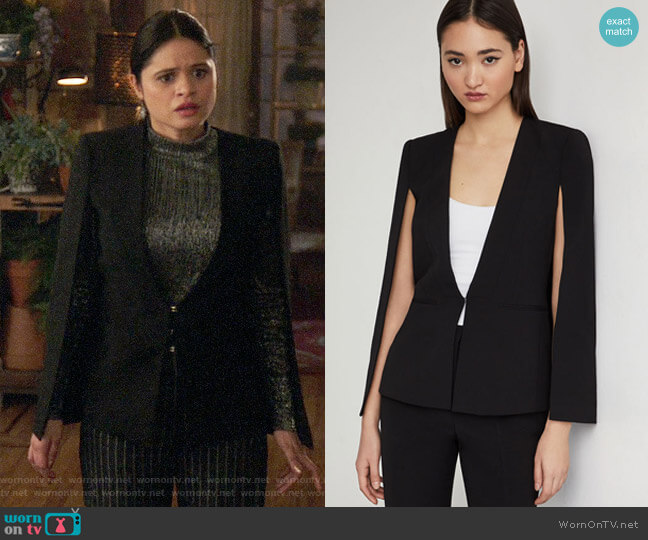 Bcbgmaxazria Upas Cape Jacket worn by Mel Vera (Melonie Diaz) on Charmed