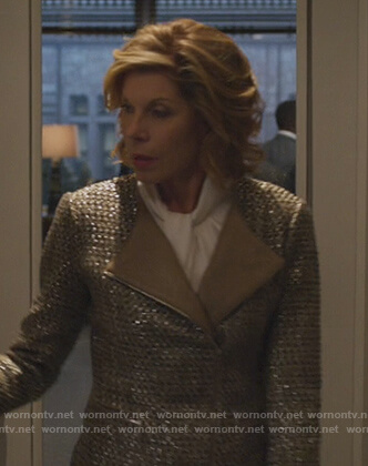 Diane's beige tweed jacket on The Good Fight