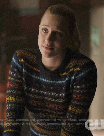 Betty's blue fair isle sweater on Riverdale