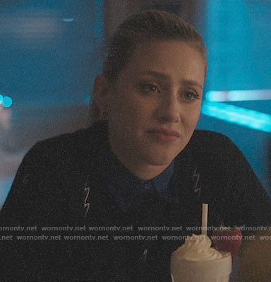 Betty's lightning bolt sweater on Riverdale