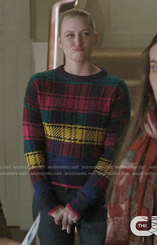 Betty's rainbow plaid sweater on Riverdale