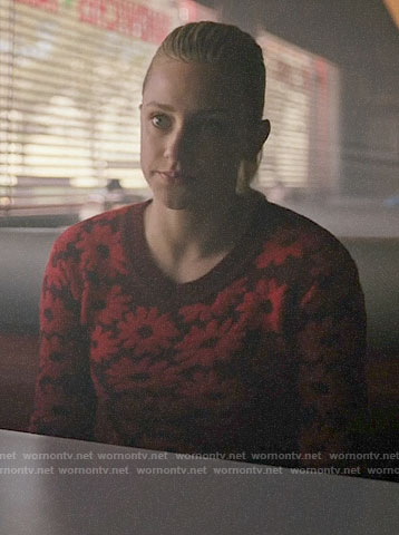 Betty's red daisy sweater on Riverdale