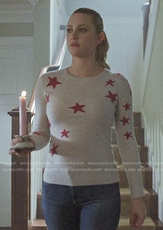 Betty's star print sweater on Riverdale