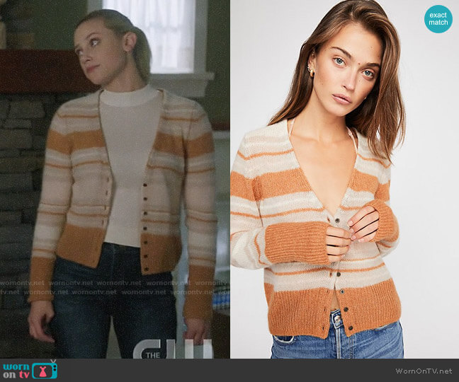 Free People Kinsley Cardi  worn by Betty Cooper (Lili Reinhart) on Riverdale