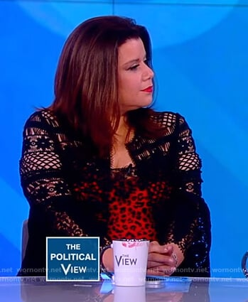 Ana's black crochet jacket on The View