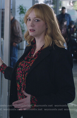 Beth's black floral blouse on Good Girls
