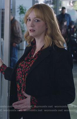 Beth's black floral blouse on Good Girls