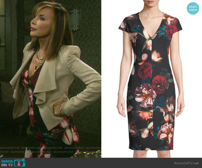 Black Halo Greyson Dress worn by Kate Roberts (Lauren Koslow) on Days of our Lives