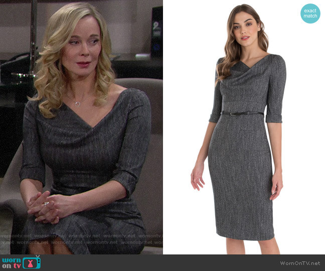 Black Halo Jackie O Tweed Dress worn by Donna Logan (Jennifer Gareis) on The Bold & the Beautiful
