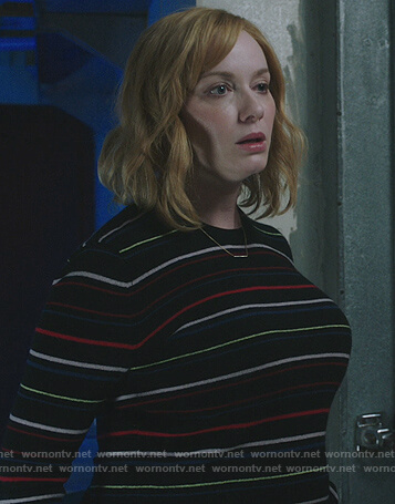 Beth's black striped sweater on Good Girls