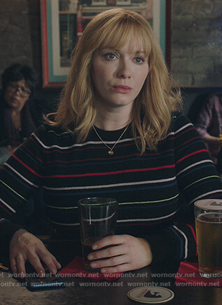 Beth's black striped sweater on Good Girls