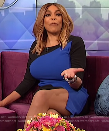 Wendy's colorblock dress on The Wendy Williams Show