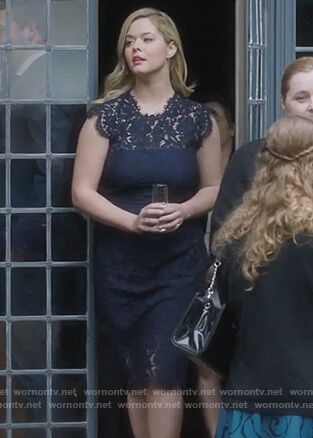 Ali's blue lace dress on PLL the Perfectionists