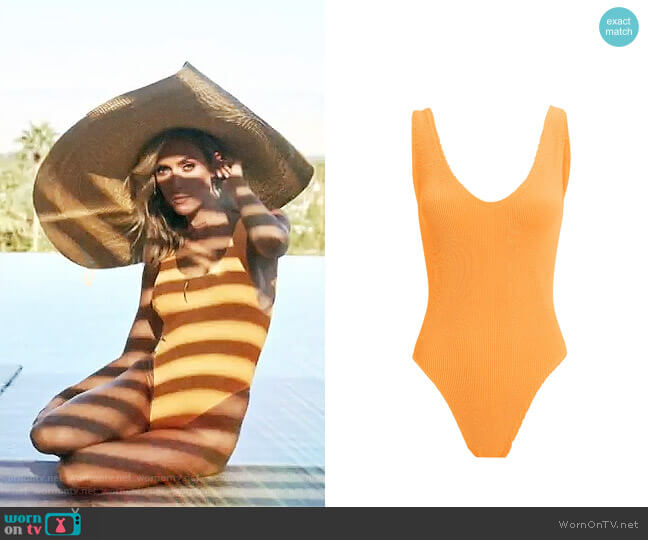Bond Eye Mara Tangerine One Piece Swimsuit worn by Kristin Cavallari  on Very Cavallari