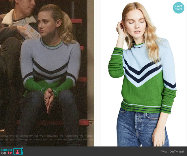 Bop Basics Vintage Varsity Pullover worn by Betty Cooper (Lili Reinhart) on Riverdale