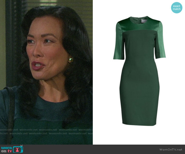 BOSS Danufa Dress worn by Melinda Trask (Laura Kai Chen) on Days of our Lives