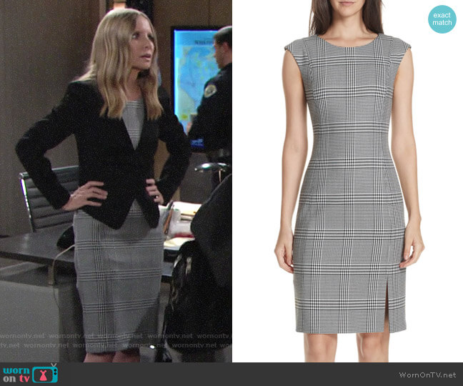 BOSS Deoboa Dress worn by Christine Blair Williams (Lauralee Bell) on The Young & the Restless
