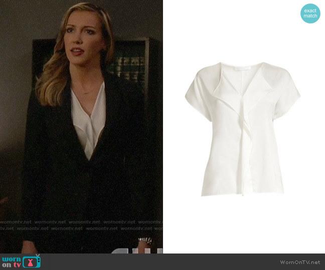 BOSS Intessa Blouse worn by Laurel Lance (Katie Cassidy) on Arrow